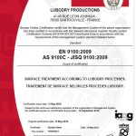 Certificat LUBODRY - EN 9100
